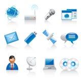 Communication icons. Set of 12 communication icons on white background Vector Illustration
