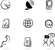 Communication icons 2 Royalty Free Stock Photography