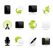 Communication icons. Twelve different detailed communication icons Royalty Free Stock Photography