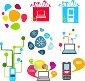 Communication icons Royalty Free Stock Photography