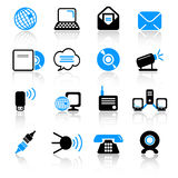 Communication icons. Set of 16 communication icons Stock Images