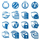 Communication icons. Mobile telephony and Internet connection icon set Stock Photo