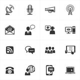 Communication Icons. Set of 16 communication icons, great for any design projects Royalty Free Stock Images