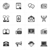 Communication Icons. Set of 16 communication icons, great for any design projects Stock Image