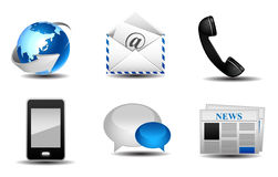 Communication icons. Illustration mail Stock Image