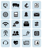 Communication icons. Set of 20 black communication icons vector illustration