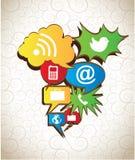 Communication icons Royalty Free Stock Photos