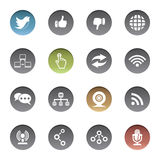 Communication icons Stock Photo