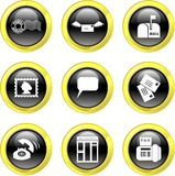 Communication icons stock illustration