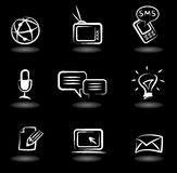 Communication icons 5 Royalty Free Stock Photography