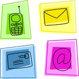 Communication icons Stock Image