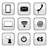 Communication icons art vector on a grey Stock Images