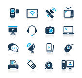 Communication Icons  // Azure Serie Royalty Free Stock Photography