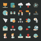 Communication icons with black background Royalty Free Stock Photo
