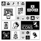 Communication Icons Black Royalty Free Stock Photography