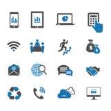 Communication icons. Communication and business icon set Stock Photo