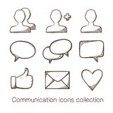 Communication icons collection. Stock Photo