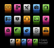 Communication Icons // Color Box. The .eps file includes 5 color versions in different layers Stock Photos