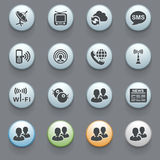 Communication icons on gray background. Set 1 Royalty Free Stock Photos
