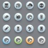 Communication icons on gray background. Set 3 Royalty Free Stock Image