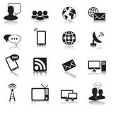 Communication icons Royalty Free Stock Image