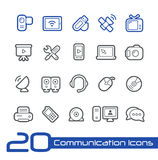 Communication Icons // Line Series Royalty Free Stock Photos