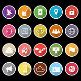 Communication icons with long shadow Royalty Free Stock Photo