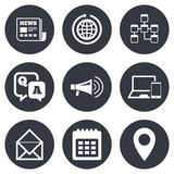 Communication icons. News, chat messages signs Stock Photo