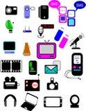 Communication Icons On White Royalty Free Stock Photos