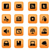 Communication icons-set 02 Royalty Free Stock Photography