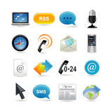 Communication icons set Stock Photography