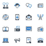 Communication Icons, Set 2 - Blue Series. Set of 16 communication icons, great for presentations, web design, web apps, mobile applications or any type of design vector illustration