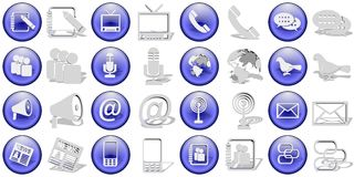 Communication icons set Royalty Free Stock Photo