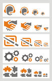 Communication icons set. Including 20 icons Royalty Free Stock Photos