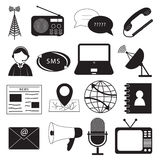 Communication Icons Set Stock Photos