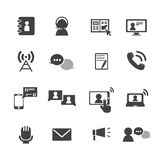 Communication icons set. Business finance icons.line theme Stock Image
