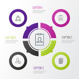 Communication Icons Set. Collection Of Teamwork, Identity Card, Profile Data And Other Elements. Also Includes Symbols Stock Photos