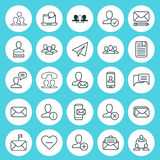 Communication Icons Set. Collection Of Teamwork, Note Page, Society And Other Elements. Also Includes Symbols Such As Royalty Free Stock Photo