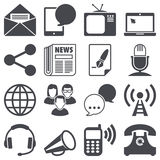 Communication icons Royalty Free Stock Images