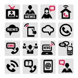 Communication icons set Stock Photo