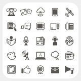 Communication icons set Royalty Free Stock Photos