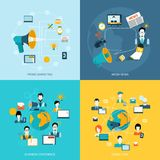 Communication icons set flat Stock Images