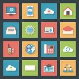 Communication icons set flat design Royalty Free Stock Images