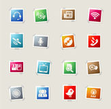 Communication icons set. Communication icon for web sites and user interface Royalty Free Stock Images