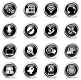 Communication icons set. Communication icon for web sites and user interface Stock Photography