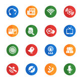 Communication icons set. Communication icon for web sites and user interface Royalty Free Stock Photos