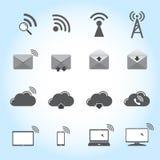 Communication icons set Royalty Free Stock Images