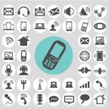 Communication icons set. Stock Photos