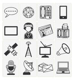 Communication icons set Stock Photography