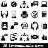 Communication icons. Set of 20 communication icons. Vector illustration royalty free illustration